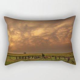 Afterglow - Clouds Glow After Storms at Sunset Rectangular Pillow