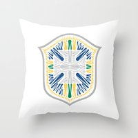 brazil Throw Pillows featuring Brazil Crest by George Williams