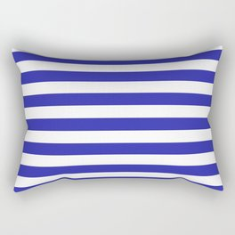 Stripes (Navy & White Pattern) Rectangular Pillow