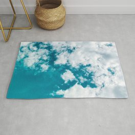 Sky Blue - Clouds Skyscape Photography Rug
