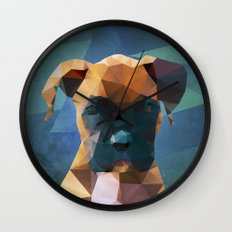 The Boxer - Dog Portrait Wall Clock