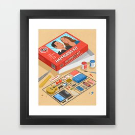 How to build happiness Framed Art Print