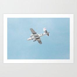 flying in the sun at Oshkosh Art Print