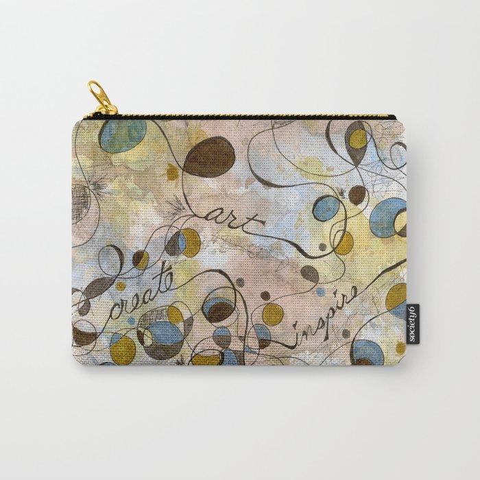 Flourish: Create, Art, Inpspire Carry-All Pouch