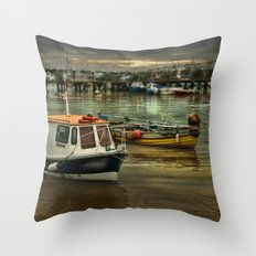 Harbour Reflections Throw Pillow