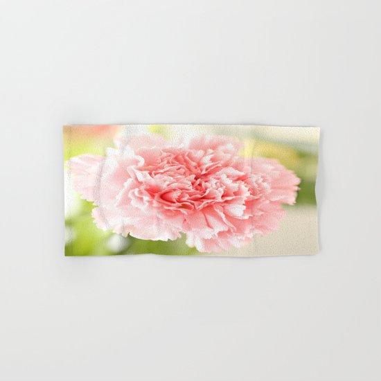Pink Carnation Admiration  Hand & Bath Towel
