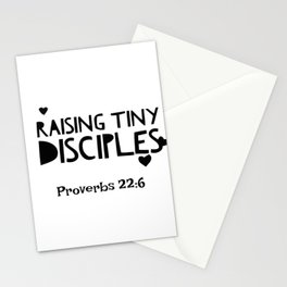 Faith Mom Raising Disciples Bible Quote Christian Proverbs  Stationery Cards