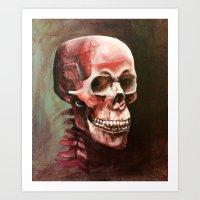 Blood Skull Art Print
