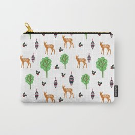 Xmas Deer Pattern Carry-All Pouch