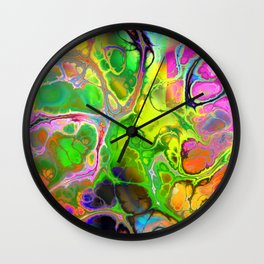 Colorful Marble Fractal Wall Clock