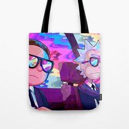 Rick and Morty colors Tote Bag