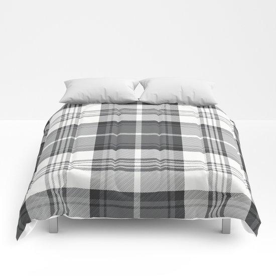 Black & White Tartan Comforters