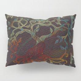 Tree of life  -Yggdrasil - and runes Pillow Sham