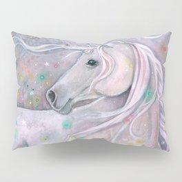 Twinkling Lights Unicorn Fantasy Watercolor Art by Molly Harrison Pillow Sham