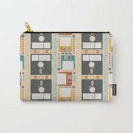 Retro Computer Floppy Disc Pattern Carry-All Pouch