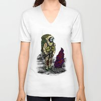spaceman V-neck T-shirts featuring Spaceman by Mihail.Kosarenin