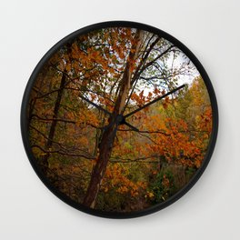 Fall in the Cuyahoga Valley National Park Wall Clock