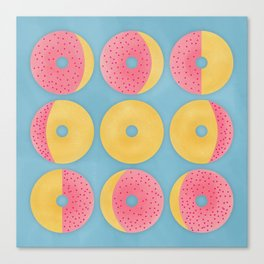 Moon Phase Donuts Canvas Print