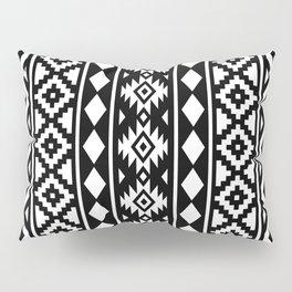 Aztec Essence Ptn III White on Black Pillow Sham