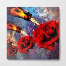 Beauty is in the Eye of the Beer Holder Metal Print