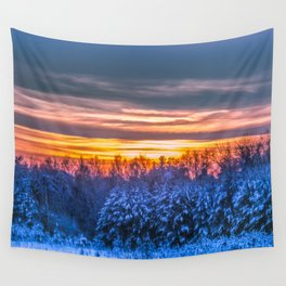 Magic winter sunset Wall Tapestry