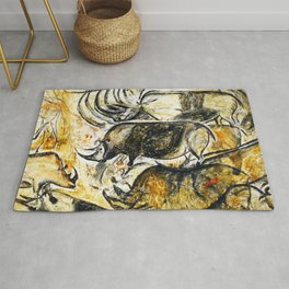 Panel of Rhinos // Chauvet Cave Rug