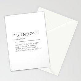 Tsundoku Definition Stationery Cards