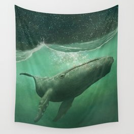 The Whale & The Moon Wall Tapestry
