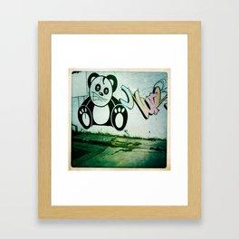 street art- cute Framed Art Print