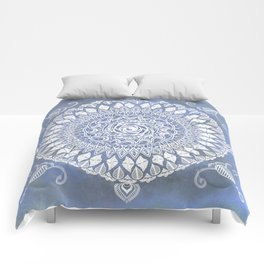 Paisley Moon Henna Mandala Comforters