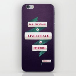 Romans 12:18 iPhone Skin