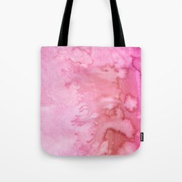 Abstract pink coral watercolor paint pattern Tote Bag