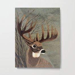 Buck with big racks  Metal Print