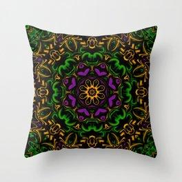 Secondary Kaleidoscope Throw Pillow