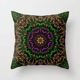 Secondary Kaleidoscope Throw Pillow