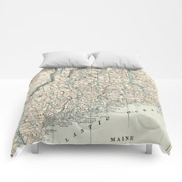 Vintage Map of Maine (1893) Comforters