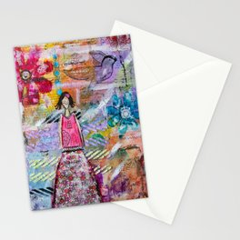Go with your heart Stationery Cards
