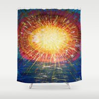 kindle Shower Curtains featuring :: OneSun :: by :: GaleStorm Artworks ::