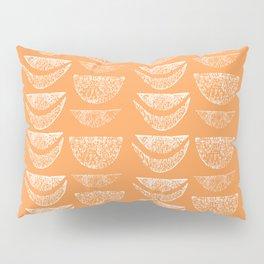 Textured Crescents in Tangerine Orange Pillow Sham