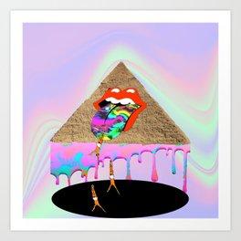Rolling Stones Stoned Art Print