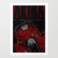 akira Art Prints featuring AKIRA by Zorio