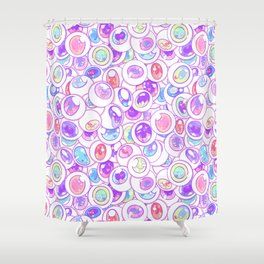 Kawaii Balls Shower Curtain