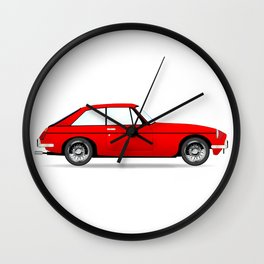 Sports Car Coupe Wall Clock