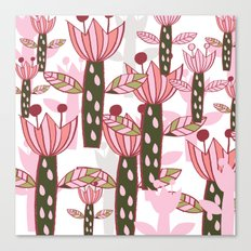 flower pink contemporary kids nursery Canvas Print
