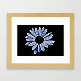 Black hole daisy Framed Art Print