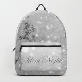 Silent Night - B & W Backpack