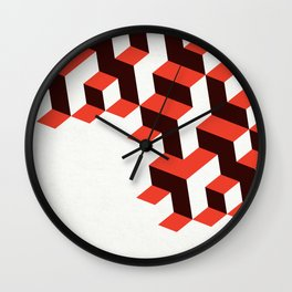Modenist Negative Space Wall Clock