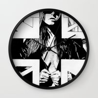 fault Wall Clocks featuring FAULT by Kelsey Crenshaw