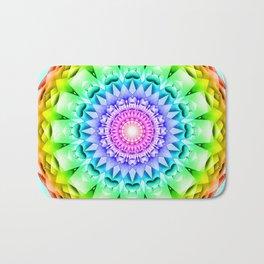 Rainbow Pulse Mandala Bath Mat