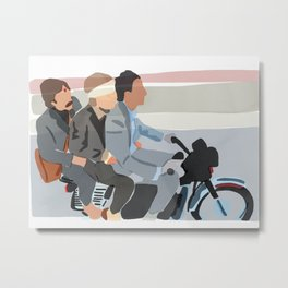Brothers On A Mission, Sean Early // The Darjeeling Limited (2007), Wes Anderson Metal Print